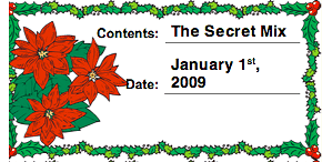 Printable Christmas Holly Canning Label