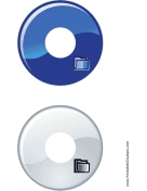 Printable Blue Gray Folder Backups CD-DVD Labels