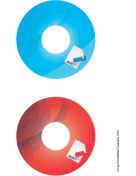 Printable Blue Red Notepad Backups CD-DVD Labels