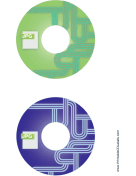 Printable Green Blue JPG Backups CD-DVD Labels