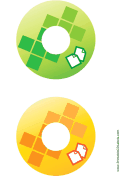 Printable Green Yellow Documents Backups CD-DVD Labels