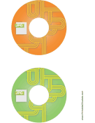 Printable Orange Green JPG Backups CD-DVD Labels