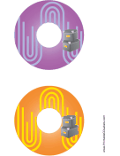 Printable Purple Orange Filing Boxes Backups CD-DVD Labels