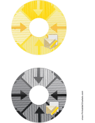 Printable Yellow Black Envelope Backups CD-DVD Labels
