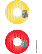Printable Yellow Red Filing Boxes Backups CD-DVD Labels